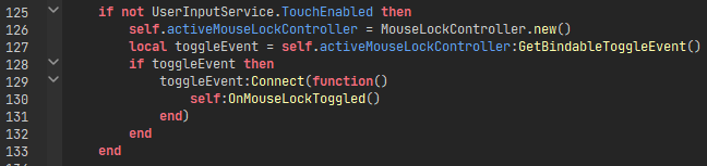 Lines of code which initialize the MouseLockController only if on a non-TouchEnabled device